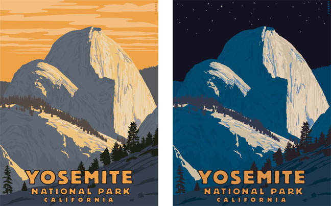 Two Yosemite posters