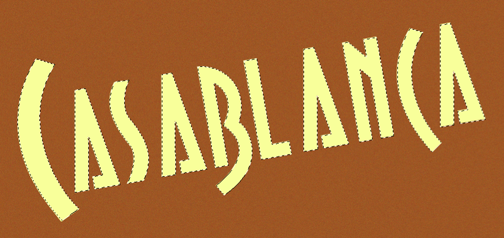 Casablanca pale yellow lettering