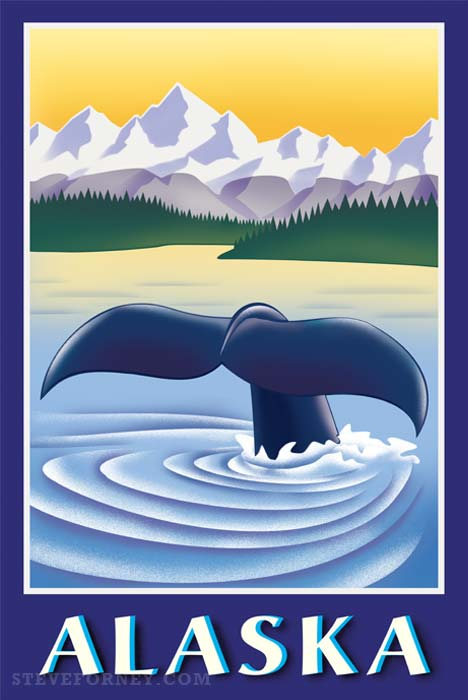 alaska whale illustration