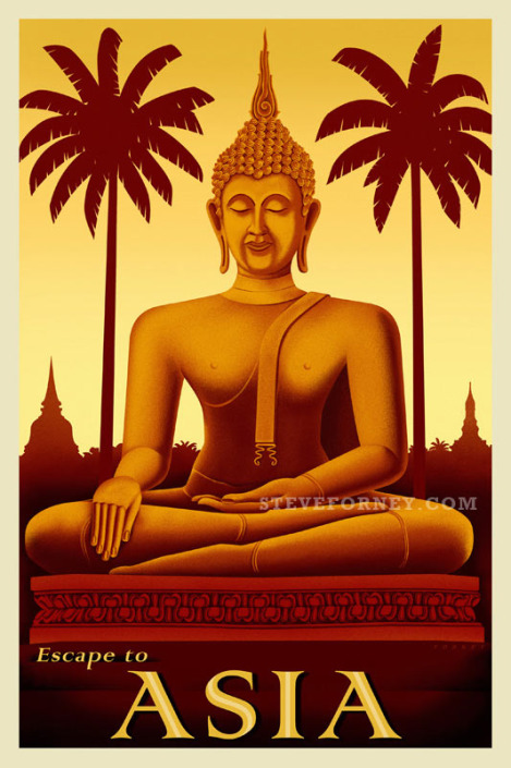 seated buddha illustration