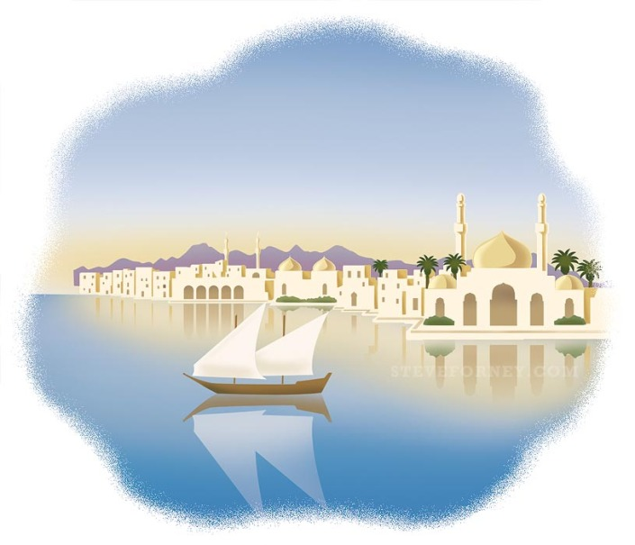 arabian river town