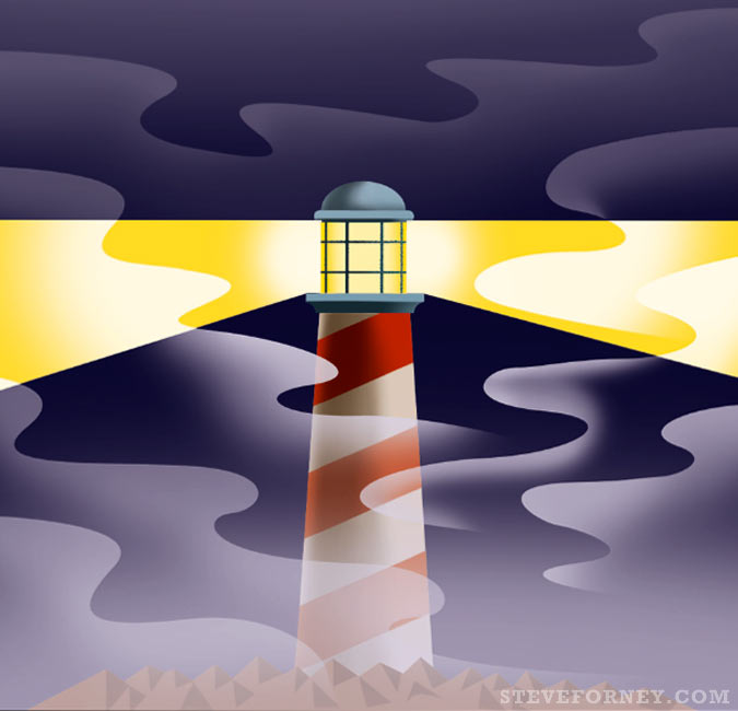 lighthouse illustrated