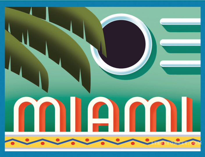 miami art deco lettering