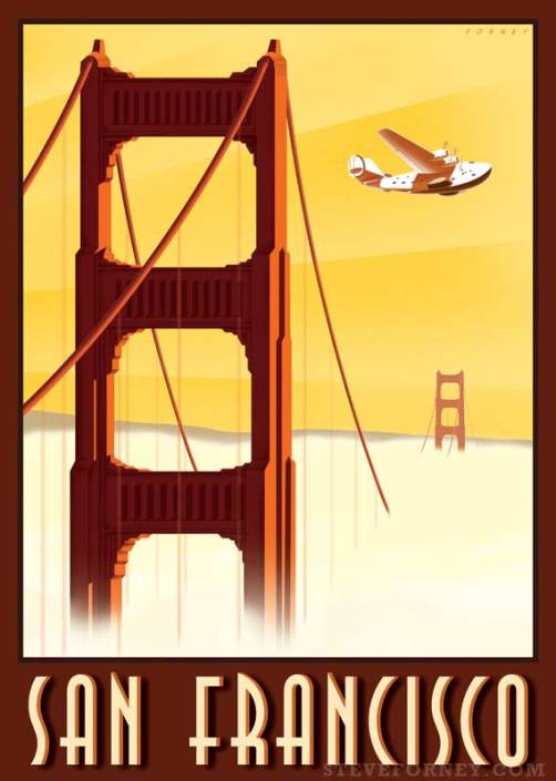 golden gate bridge and plane
